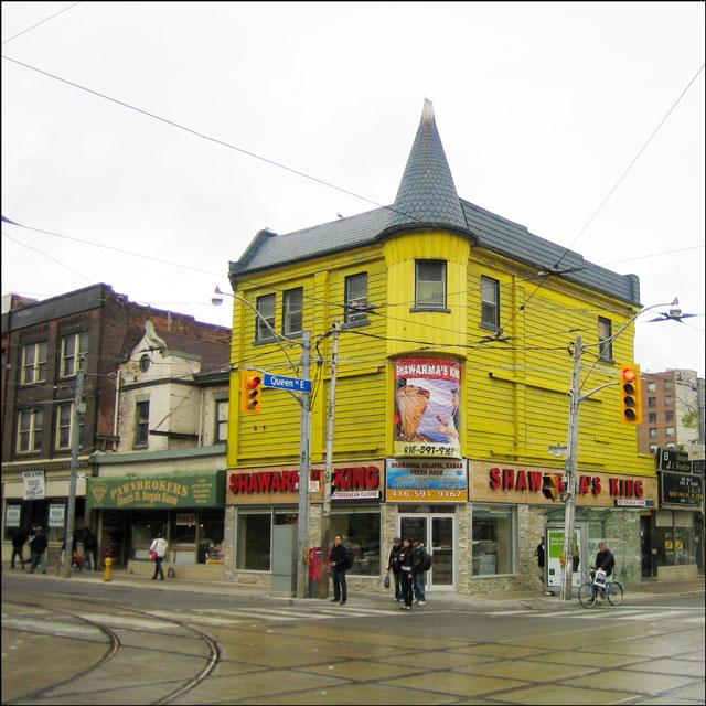 yellow building Queen st w