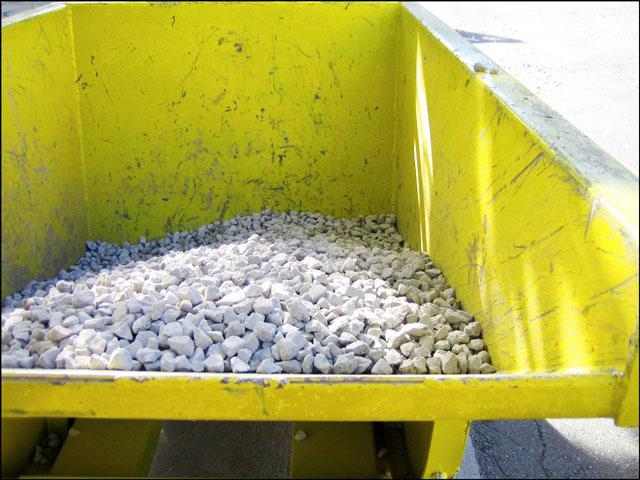 yellow gravel scoop