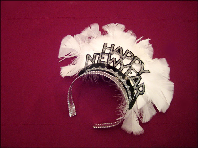 happy new year feather tiar