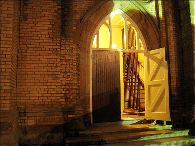 open-church-door
