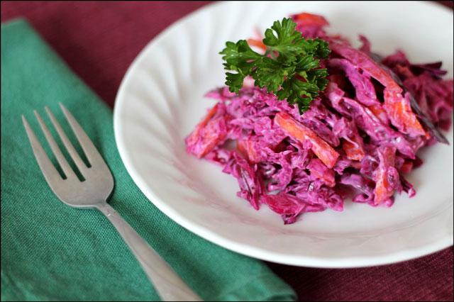 cole slaw purple cabbage