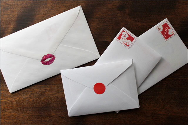 envelopes for valentines