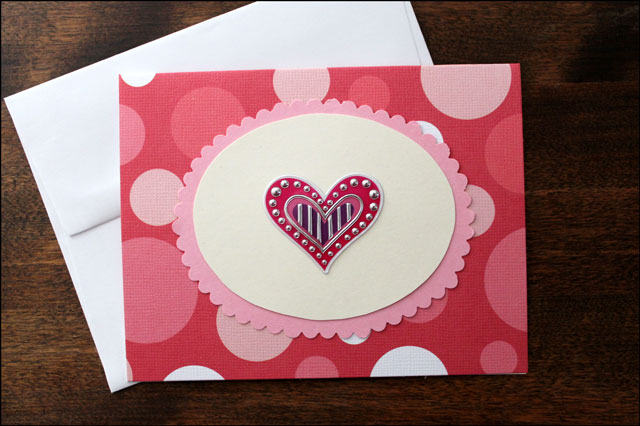 handmade valentine card 2
