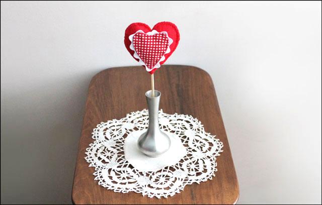 handmade valentine decoration heart cotton and felt