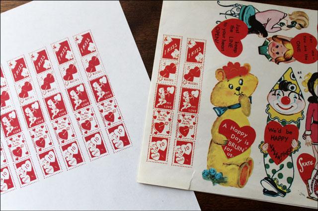 making vintage valentine st