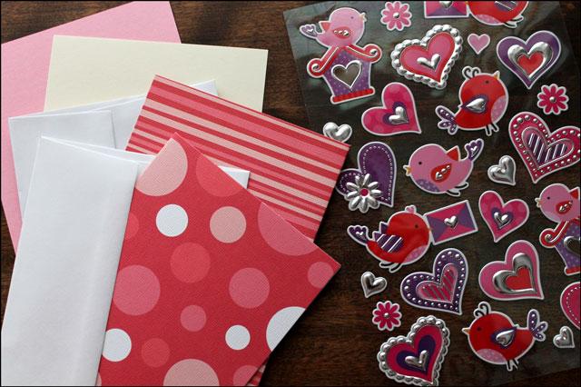 valentine making supplies