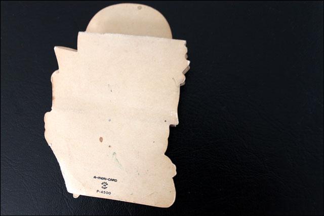 back of vintage easter card