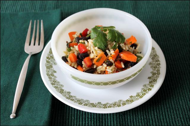 black bean-and-rice-marinated-salad