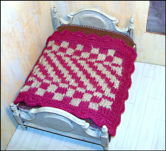 bed-with-knit-blanket
