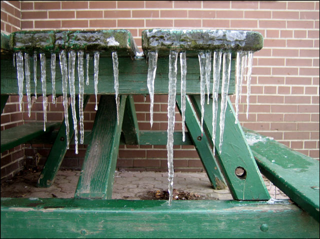 icicles-on-picnic-table