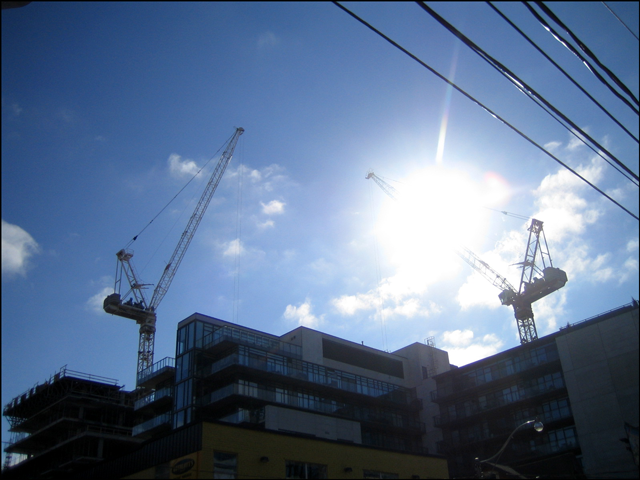 cranes-with-sunflare