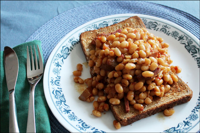 homemade-brown-beans-on-toast