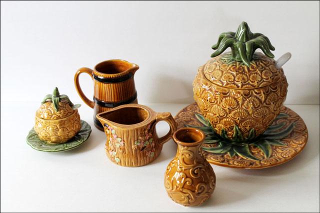 majolica like pottery colle