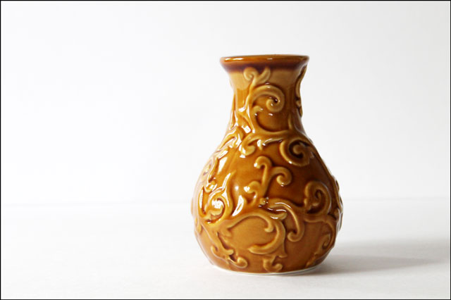 thrifted gold vase