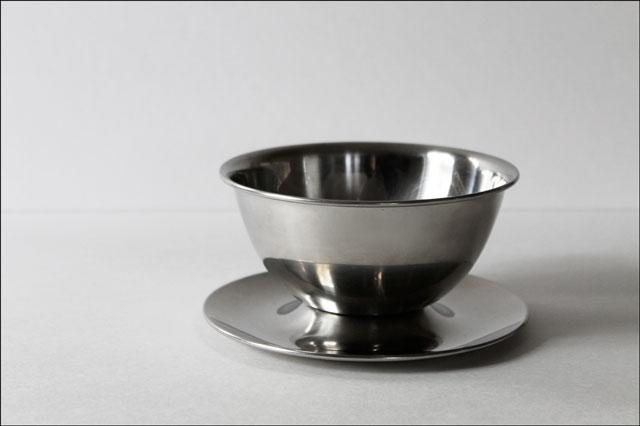 thrifted oneida gravy bowl