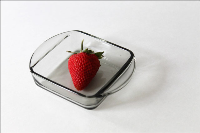 thrifted small glass dish 2
