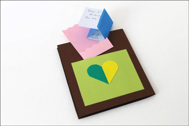 diy card pocket with note
