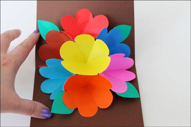 flower pop up card diy