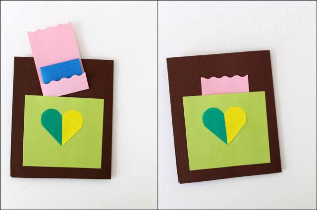 handmade card secret note p