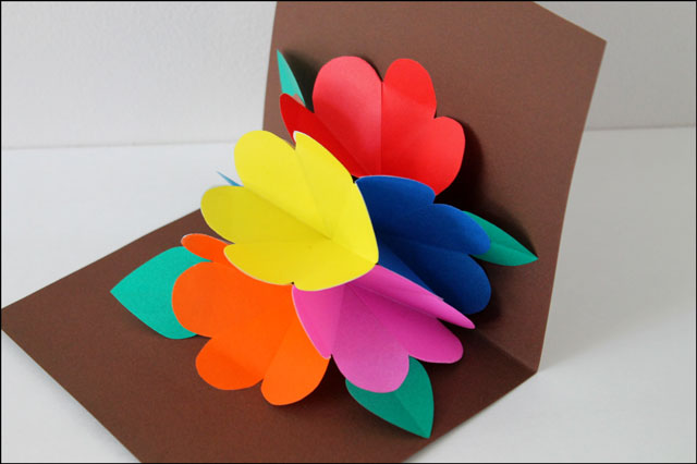 handmade pop up card