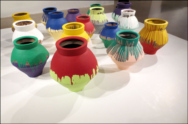 Ai Weiwei Colored Vases Loulou Downtown