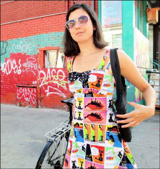 mia-in china-town wearing fashion whore dress