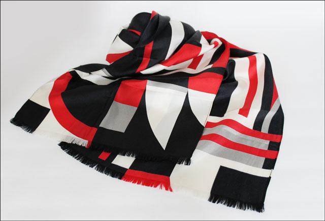 thrifted lauren by ralph lauren silk scarf