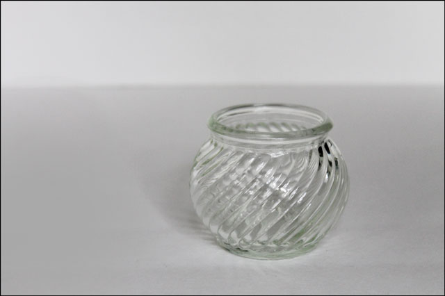 thrifted tea light container