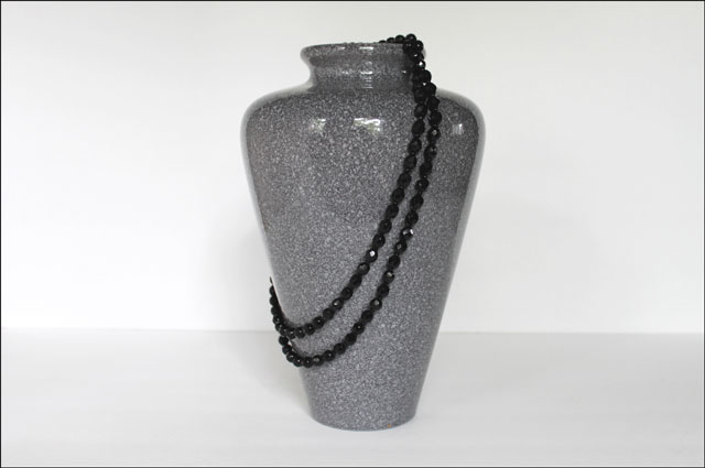 thrifted vintage jet necklace