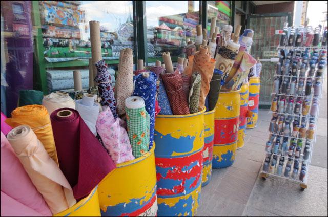 barrels of fabric