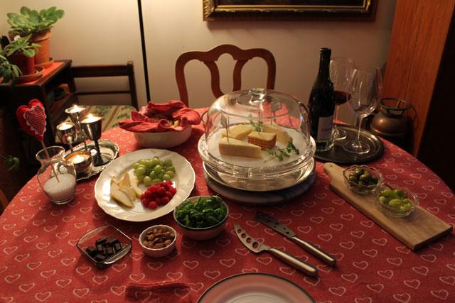 Anniversary Dinner Wine And Cheese