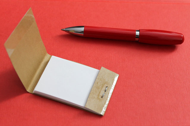 diy matchbook style notepad