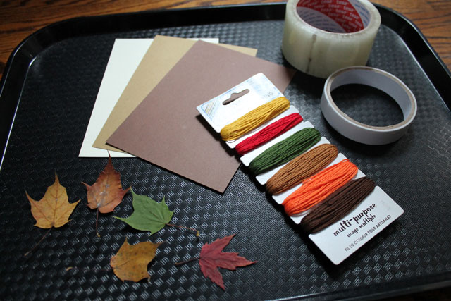 supplies to make things with pressed leaves