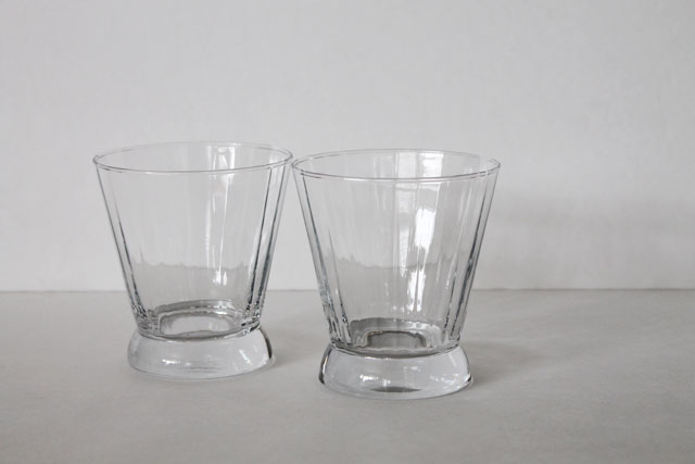 thrifted drinking glasses