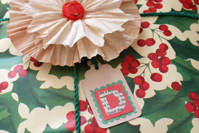 diy gift tag and flower