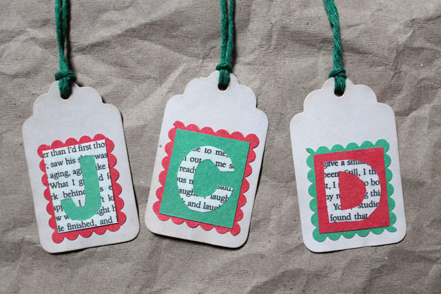 handmade gift tags initials