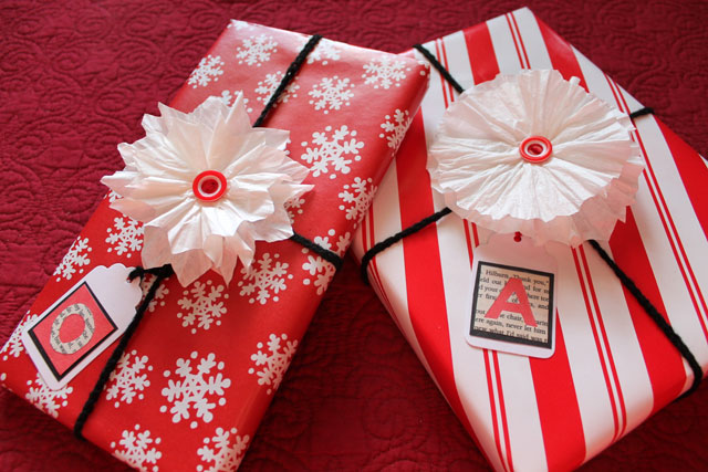 handmade gift ties and flower bows