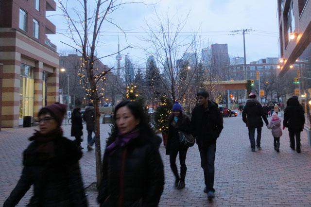 leaving the christmas market