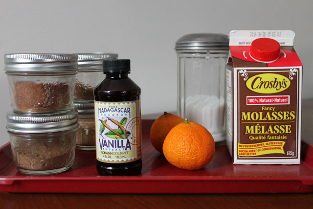 ingredients for spiced syrup
