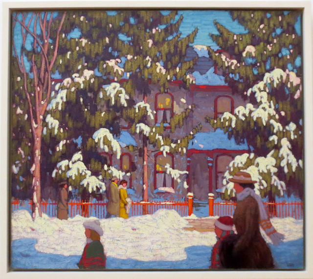 painting by lawren harris part of permanent collection ago toronto