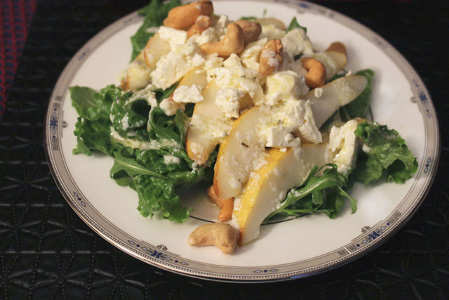 salad-with-pears-cashews-feta