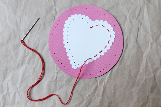 Stitched hearts greeting cards two styles loulou downtown