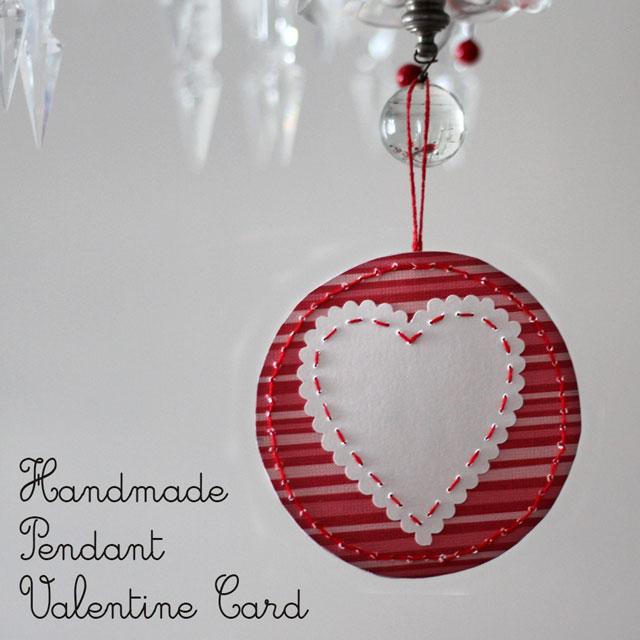 handmade pendant valentine card