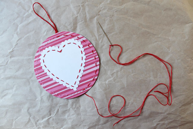 make hand stitched valentine
