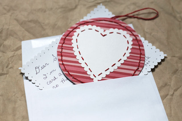 pendant valentine card diy
