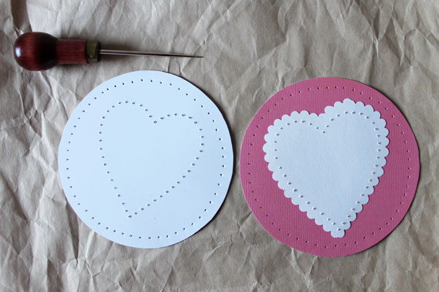 stitching paper punch holes
