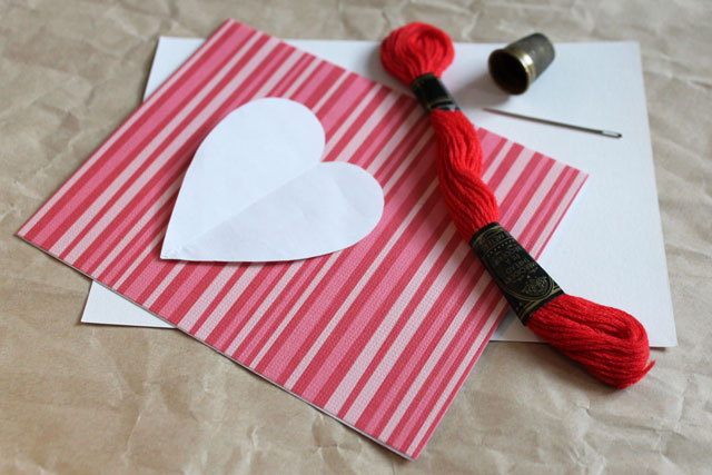 supplies to make pendant valentine