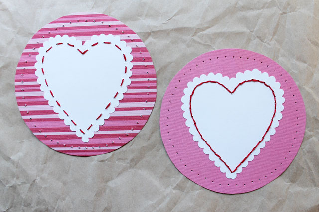 two sided of handmade valentine