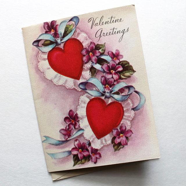 vintage valentine card for friend