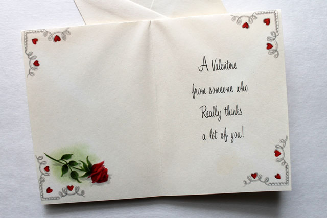vintage valentine message
